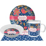 Owl & Hedgehog Dinner Set - 4 Pc (Personalized)