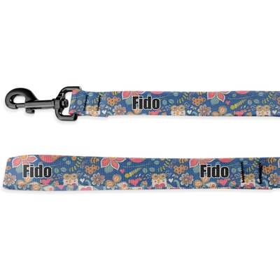 Owl & Hedgehog Deluxe Dog Leash (Personalized)