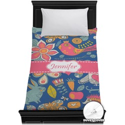 Owl & Hedgehog Duvet Cover - Twin (Personalized)