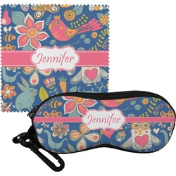Owl & Hedgehog Eyeglass Case & Cloth (Personalized)