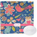 Owl & Hedgehog Wash Cloth (Personalized)