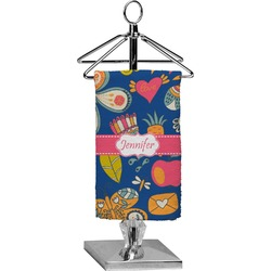 Owl & Hedgehog Finger Tip Towel - Full Print (Personalized)