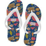 Owl & Hedgehog Flip Flops (Personalized)