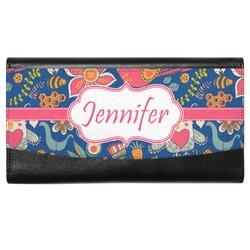 Owl & Hedgehog Genuine Leather Ladies Wallet (Personalized)