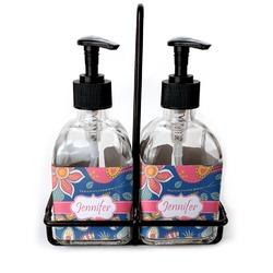 Owl & Hedgehog Soap & Lotion Dispenser Set (Glass) (Personalized)