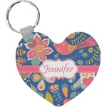 Owl & Hedgehog Heart Keychain (Personalized)