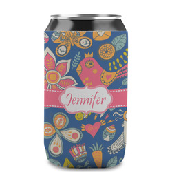 Owl & Hedgehog Can Sleeve (12 oz) (Personalized)