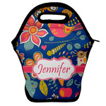 Owl & Hedgehog Lunch Bag w/ Name or Text