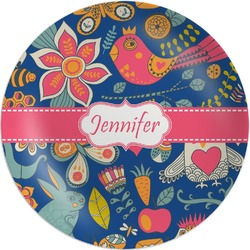 Owl & Hedgehog Melamine Plate (Personalized)