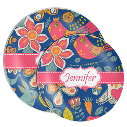 Owl & Hedgehog Melamine Plate (Personalized)