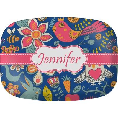 Owl & Hedgehog Melamine Platter (Personalized)