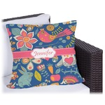 Owl & Hedgehog Outdoor Pillow (Personalized)