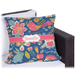 """Owl & Hedgehog Outdoor Pillow - 18"""" (Personalized)"""