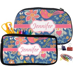Owl & Hedgehog Pencil / School Supplies Bag (Personalized)