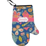 Owl & Hedgehog Right Oven Mitt (Personalized)