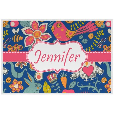 Owl & Hedgehog Laminated Placemat w/ Name or Text