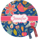 Owl & Hedgehog Round Magnet (Personalized)