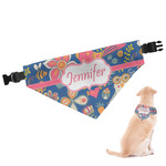 Owl & Hedgehog Dog Bandana (Personalized)