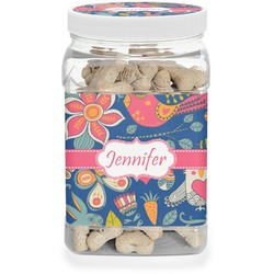 Owl & Hedgehog Dog Treat Jar (Personalized)