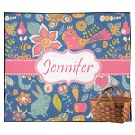 Owl & Hedgehog Outdoor Picnic Blanket (Personalized)