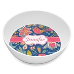 Owl & Hedgehog Melamine Bowl 8oz (Personalized)