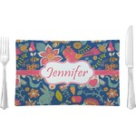 Owl & Hedgehog Glass Rectangular Lunch / Dinner Plate - Single or Set (Personalized)