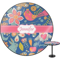 "Owl & Hedgehog Round Table - 30"" (Personalized)"