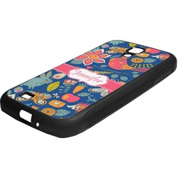 Owl & Hedgehog Rubber Samsung Galaxy 4 Phone Case (Personalized)