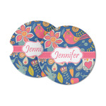 Owl & Hedgehog Sandstone Car Coasters (Personalized)
