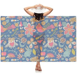 Owl & Hedgehog Sheer Sarong (Personalized)