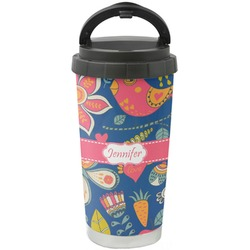 Owl & Hedgehog Stainless Steel Travel Mug (Personalized)