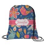 Owl & Hedgehog Drawstring Backpack (Personalized)