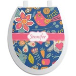 Owl & Hedgehog Toilet Seat Decal (Personalized)
