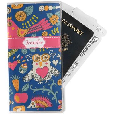Owl & Hedgehog Travel Document Holder
