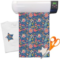 "Owl & Hedgehog Heat Transfer Vinyl Sheet (12""x18"")"