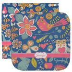 Owl & Hedgehog Facecloth / Wash Cloth (Personalized)