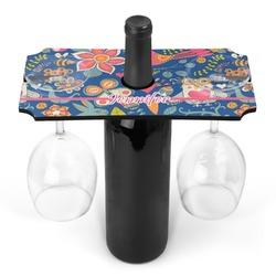 Owl & Hedgehog Wine Bottle & Glass Holder (Personalized)