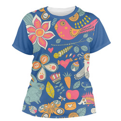 Owl & Hedgehog Women's Crew T-Shirt (Personalized)