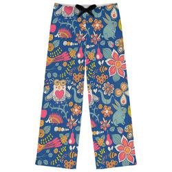 Owl & Hedgehog Womens Pajama Pants - XL (Personalized)