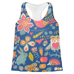 Owl & Hedgehog Womens Racerback Tank Top (Personalized)