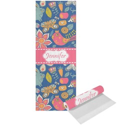 Owl & Hedgehog Yoga Mat - Printed Front (Personalized)