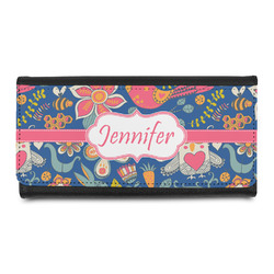 Owl & Hedgehog Leatherette Ladies Wallet (Personalized)