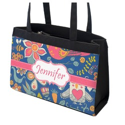 Owl & Hedgehog Zippered Everyday Tote (Personalized)
