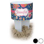 Owl & Hedgehog Beach Spiker Drink Holder (Personalized)