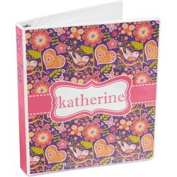 Birds & Hearts 3-Ring Binder (Personalized)