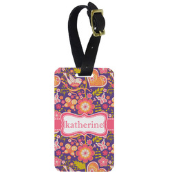 Birds & Hearts Aluminum Luggage Tag (Personalized)