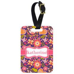 Birds & Hearts Aluminum Luggage Tag (Personalized)