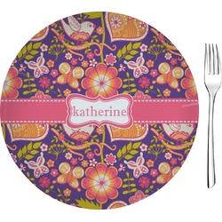 "Birds & Hearts 8"" Glass Appetizer / Dessert Plates - Single or Set (Personalized)"