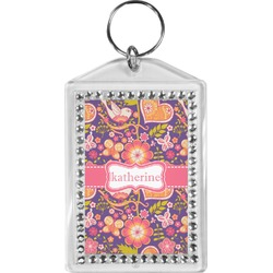 Birds & Hearts Bling Keychain (Personalized)