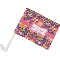 Birds & Hearts Car Flag (Personalized)